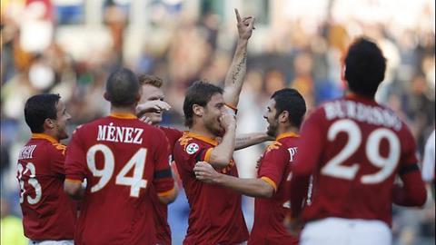 Bàn thắng của Francesco Totti vào lưới Roma lọt vào top 5 siêu phẩm vòng 3 Serie A