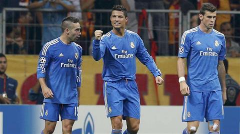 Ronaldo đã có cú hat-trick vào lưới Galatasaray