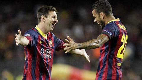Messi lập hat-trick trong ngày Barca đại thắng Ajax