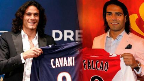 Cavani và Falcao, hai tân binh đắt giá của Ligue 1 13/14