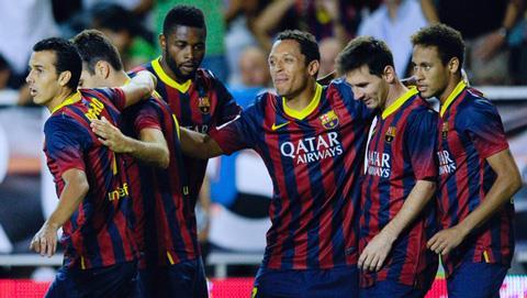 Barca để mất quyền kiểm soát bóng vào tay đối thủ