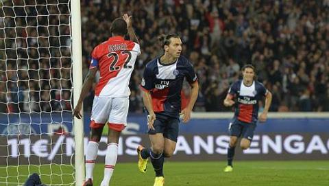 Monaco và PSG có trận hòa 1-1 trên sân Công viên các Hoàng Tử
