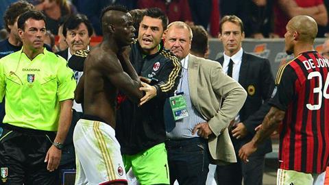 Balotelli tính ăn thua đủ với trọng tài