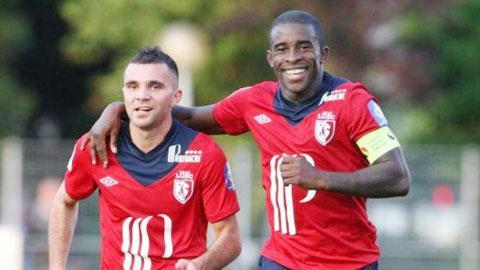 """""""Kim cương"""" Marvin Martin (trái) sẽ lại giúp Lille giành trọn 3 điểm"""