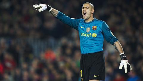 Valdés đang có phong độ rất cao trong màu áo Barca