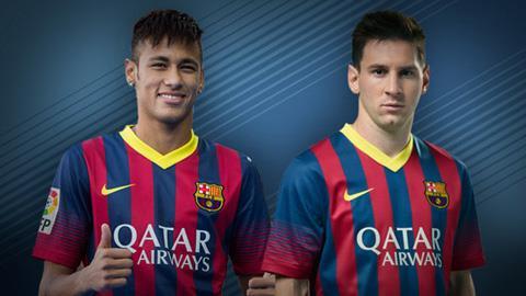 Neymar và Lionel Messi