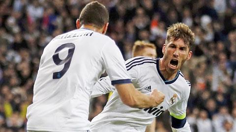 Ramos và đồng đội sẽ lại có một trận thắng cách biệt