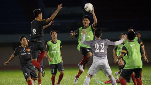 Những nụ cười tự tin luôn xuất hiện trong buổi tập của các tuyển thủ U23 Việt Nam