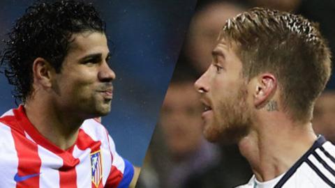 Diego Costa (Atletico Madrid) và Sergio Ramos (Real Madrid)