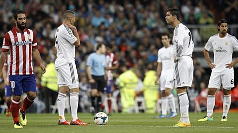 Real đã bị Atletico Madrid đánh bại ngay tại sân nhà Bernabeu