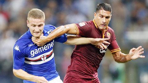 Roma (phải) sẽ gặp rất nhiều khó khăn vào đêm nay dù được đá trên sân nhà