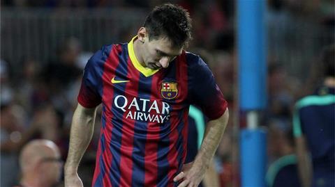 Messi sẽ vắng mặt ở Champions League giữa tuần tới