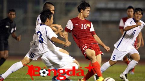 Văn Toàn (áo đỏ) là niềm hy vọng lớn của U19 Việt Nam. Ảnh: Minh Tuấn