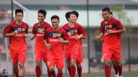 Các cầu thủ U23 Việt Nam đang tích cực chuẩn bị cho SEA Games 27 - ẢNH: ĐỨC CƯỜNG