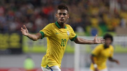 Tiền đạo Neymar ghi bàn thắng đẹp vào lưới Hàn Quốc