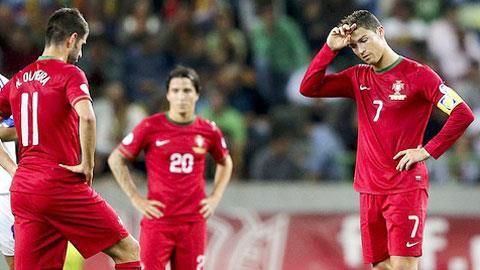Cristiano Ronaldo và các đồng đội đều kém tỉnh táo ở những trận đấu lớn