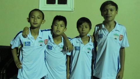 Phan Hồ Khải, Nguyễn Duy Tâm, Huỳnh Tuấn Vũ, Huỳnh Văn Hải (từ trái qua phải) là 4 thí sinh đã trúng tuyển
