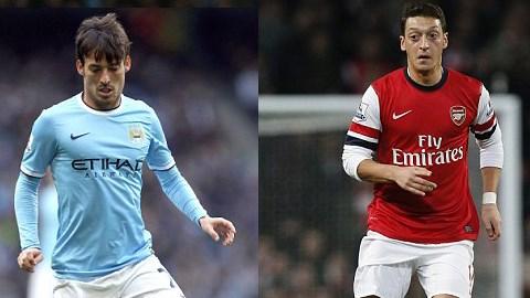 So sánh đội hình siêu sao của Man City & Arsenal