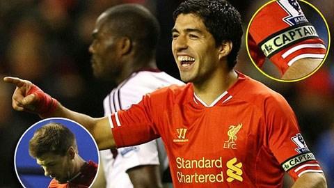 Suarez sẽ đeo băng đội trưởng trận gặp Tottenham?