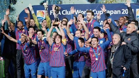 Barcelona là 1 trong 2 đội từng 2 lần vô địch FIFA Club World Cup