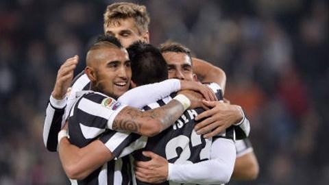 Juventus là đội bóng đầu tiên có mặt ở vòng tứ kết