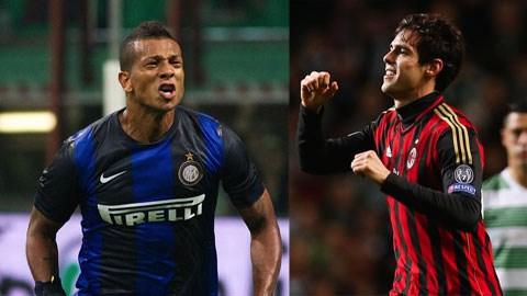 Liệu Guarin có cản được Kaka ghi bàn thứ 100 cho Milan tại trận derby?