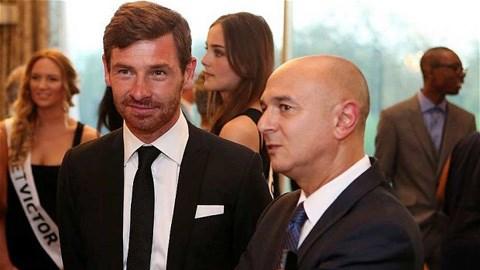 Chủ tịch Daniel Levy (phải) khi còn cộng tác với HLV Andre Villas-Boas