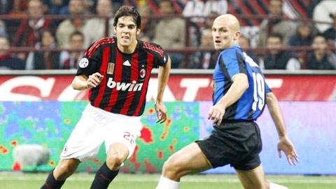 Kaka (trái) sẽ là điểm sáng hiếm hoi cho những pha bóng bay bướm, đẹp mắt trong trận derby Milan tới