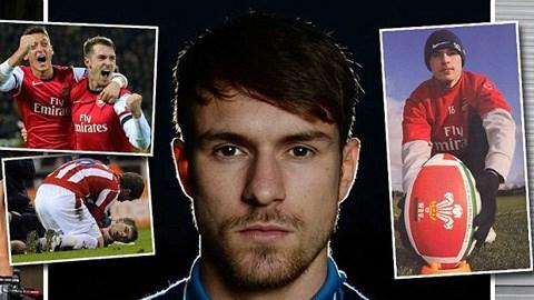 Ramsey từng mơ trở thành một cầu thủ rugby chuyên nghiệp