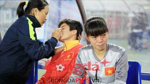 ĐT nữ Việt Nam đã không thể bảo vệ ngôi vô địch tại SEA Games 27 - Ảnh: Phan Tùng