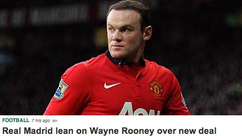 Real sẽ chi 20 triệu bảng mua Rooney