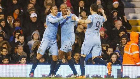 Man City đã vươn lên vị trí thứ 2 trên bảng xếp hạng