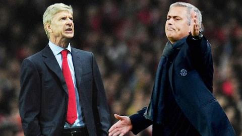 Wenger chưa từng thắng Mourinho trong 9 lần đối đầu