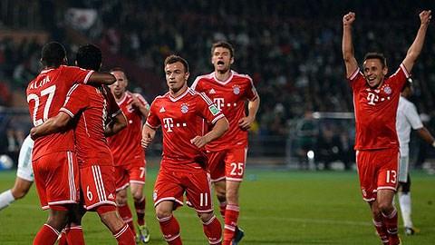 Bayern là đội bóng số 1 thế giới trong năm 2013