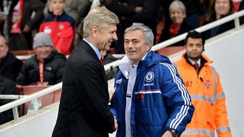 HLV Wenger chưa từng thắng được người đồng nghiệp Mourinho