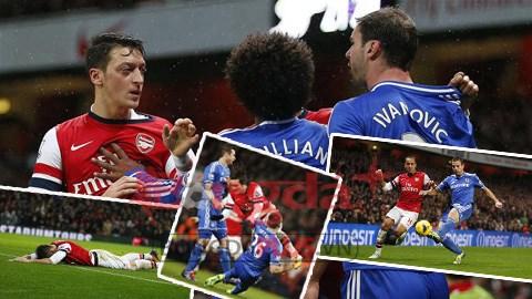 Oezil lặn mất tăm trong trận đấu với Chelsea