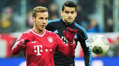 Goetze (trái) đang khẳng định vị trí tại Bayern