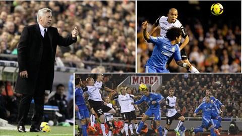 """Real vẫn """"chết"""" vì chống bóng bổng kém và cách bố trí người bất hợp lý của Ancelotti"""