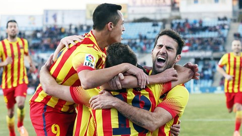 Barca đã lội ngược dòng thành công trước Getafe