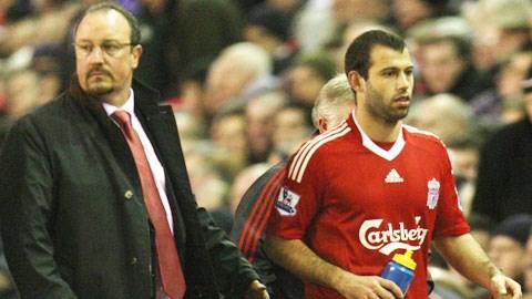 HLV Benitez và Mascherano thời còn ở Liverpool