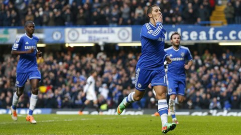Eden Hazard là người ghi bàn đem về chiến thắng cho Chelsea