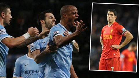 Man City đã vươn lên vị trí thứ 2 sau thắng lợi trước Liverpool