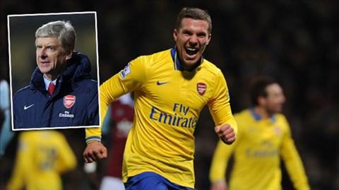 Podolski đã mang tới nét khác biệt cho hàng công Pháo thủ