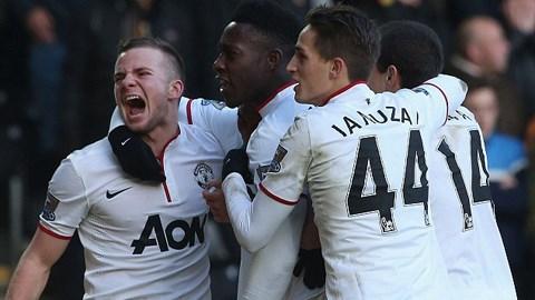 Niềm vui chiến thắng của các cầu thủ M.U