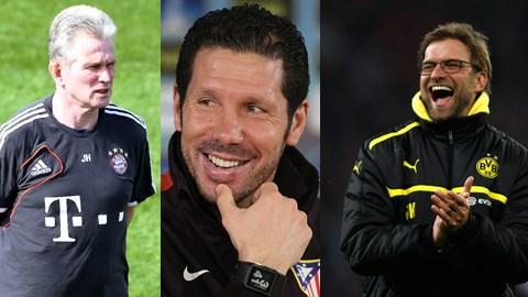 Heynckes, Simeone và Klopp là những ứng viên hàng đầu cho danh hiệu HLV xuất sắc nhất châu Âu năm 2013