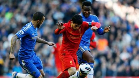 Suarez (giữa) và đồng đội sẽ lại thi đấu bùng nổ tại Stamford Bridge