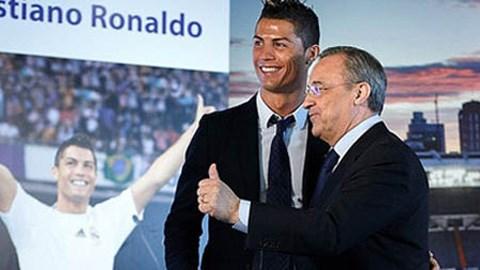Chủ tịch Perez và Ronaldo