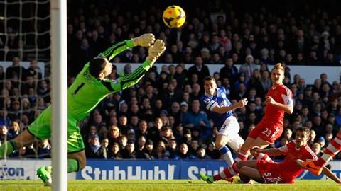 Coleman (áo xanh) ghi bàn thắng đẹp nhất vòng này
