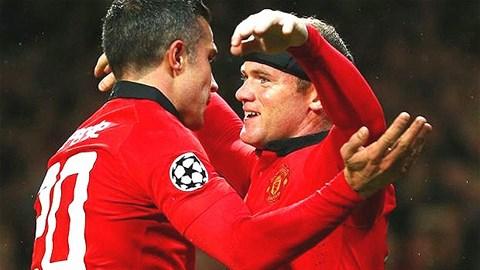 Robin van Persie và Wayne Rooney