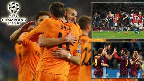 Lượt đi vòng 1/8 Champions League đã khép lại